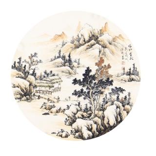 张利小尺寸山水画作品《福地金秋》
