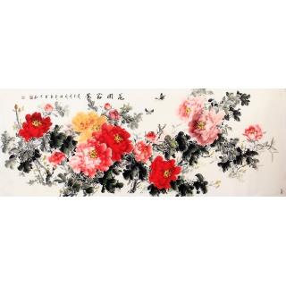 【已售】国家一级美术师张利写意牡丹图《花开富贵》