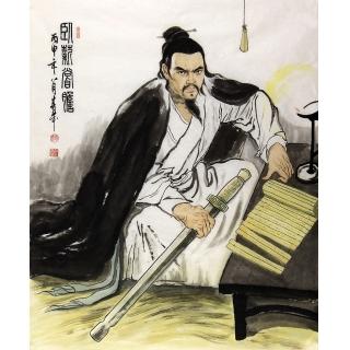 赵春华人物画作品《卧薪尝胆》