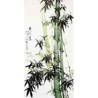 【已售】吴山雨四尺竖幅竹子画《节节高》
