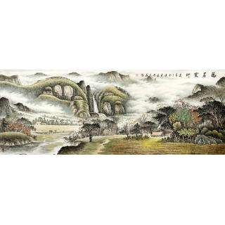 名人字画 张利最新力山水画作品《福居宝地》