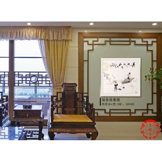 实力派画家阳瑞萍四尺斗方人物画作品《茶亦醉人何须酒》