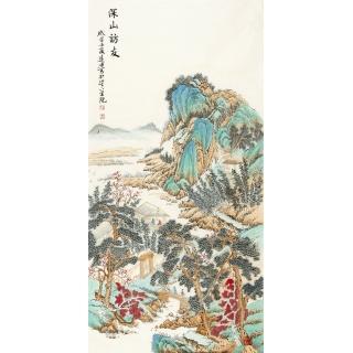 刘远东最新仿古山水画精心之作《深山访友》