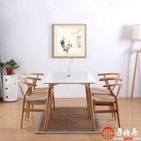【已售】阳瑞萍四尺斗方人物画作品《茶亦醉人何须酒》
