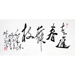 国家一级美术师张林东四尺毛体书法作品《走进春舞枝》