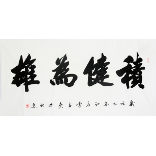 袖珍书法创始人李孟尧 四尺书法《积健为雄》