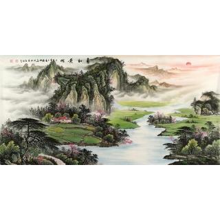 陈厚刚最新力作山水画作品《春和景明》