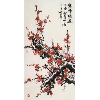 实力派画家李仲源四尺竖幅《寒香溢远》