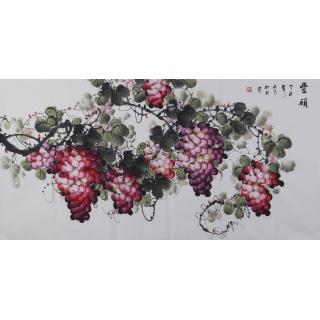 【已售】赵汗青四尺国画葡萄《丰硕》