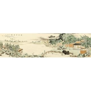 【已售】池福云最新力作国画《携琴访友图》