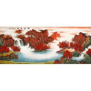 【已售】办公室装饰画 陈厚刚山水画作品《鸿运当头》