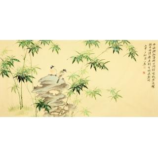 【已售】皇甫小喜四尺横幅写意竹子图
