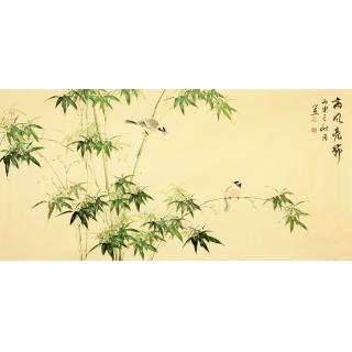 【已售】皇甫小喜四尺横幅竹子图《高风亮节》