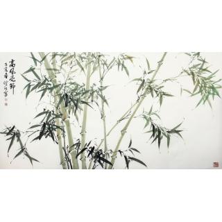 国家一级美术师肖洪辉新品竹子画《高风亮节》
