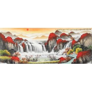 旺运生财 杨炳钧风水画聚宝盆作品《富水长流聚财地》