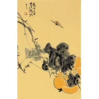 吉祥果蔬画 画家王子儒国画作品《葫芦》