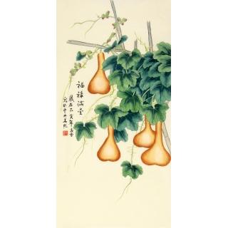 凌雪新品佳作国画葫芦图《福禄满堂》