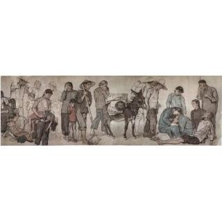 艺术巨匠 蒋兆和巨幅人物群像《流民图》