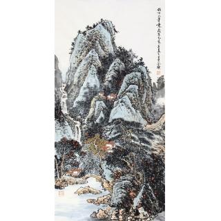 装饰画精选 李朴最新四尺竖幅国画《仿古人笔意》