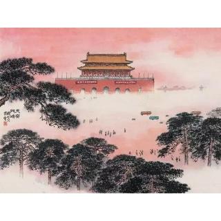 新金陵画派的创立者钱松喦书画精品《天安门》