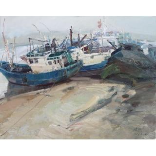 中国美术家协会主席 范迪安新品油画作品《港湾》