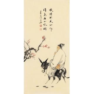 刘汉良新品人物画《放怀于天地外》