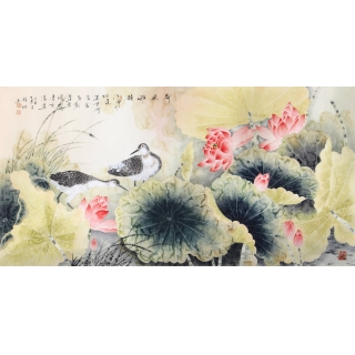 【已售】国画荷花 画家张琳精品工笔《荷风雅韵》