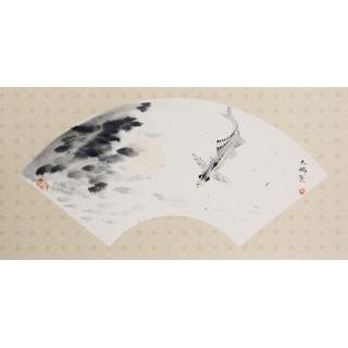 陈大鹏写意花鸟画《清净世界》