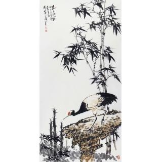 玄关/走廊装饰画 王占海新品花鸟画《君子风范》