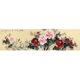 客厅挂画 宣丽敏写意牡丹国画《独占人间第一香》