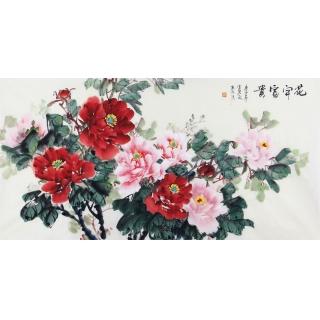 宣丽敏写意国画牡丹图《花开富贵》